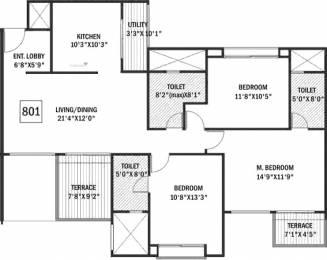 2031 sqft, 3 bhk Apartment in Godrej Horizon Undri, Pune at Rs. 0