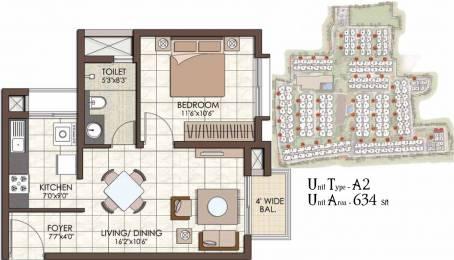 634 sqft, 1 bhk Apartment in Prestige Kew Gardens Bellandur, Bangalore at Rs. 0