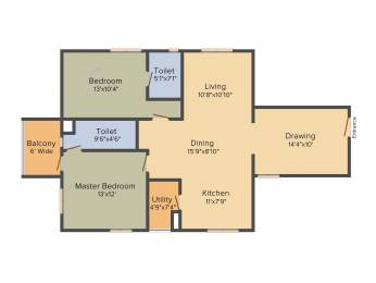 1460 sqft, 2 bhk Apartment in Accurate Wind Chimes Narsingi, Hyderabad at Rs. 0