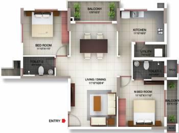 1274 sqft, 2 bhk Apartment in PBEL Siesta Thaiyur, Chennai at Rs. 0