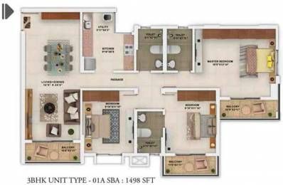 1498 sqft, 3 bhk Apartment in Salarpuria Sattva Park Cubix Devanahalli, Bangalore at Rs. 0