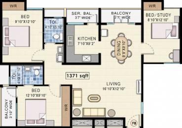 1371 sqft, 3 bhk Apartment in Navin Starwood Towers 2 Vengaivasal, Chennai at Rs. 0