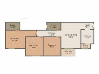 1082 sqft, 3 bhk Apartment in Provident Sunworth Kumbalgodu, Bangalore at Rs. 0