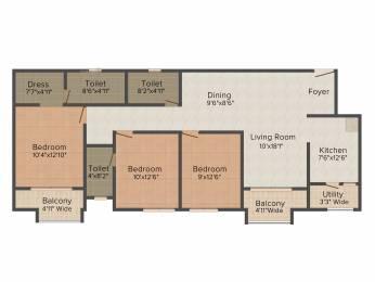 1549 sqft, 3 bhk Apartment in TATA New Haven Ribbon Walk Moolacheri, Chennai at Rs. 0