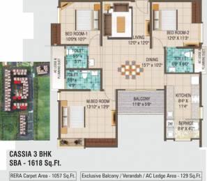 1618 sqft, 3 bhk Apartment in Alliance Galleria Residences Pallavaram, Chennai at Rs. 0