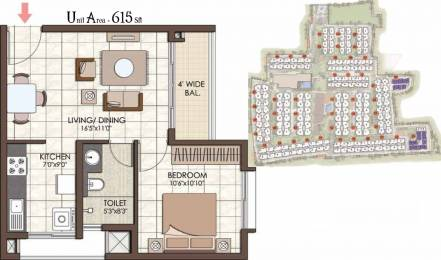 615 sqft, 1 bhk Apartment in Prestige Kew Gardens Bellandur, Bangalore at Rs. 0