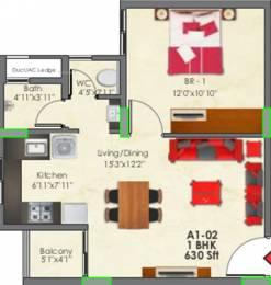 630 sqft, 1 bhk Apartment in SNN Raj Greenbay Electronic City Phase 2, Bangalore at Rs. 0