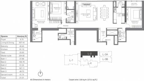 2584 sqft, 3 bhk Apartment in TATA 88 East Alipore, Kolkata at Rs. 0