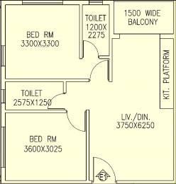 945 sqft, 2 bhk Apartment in Jain Dream One New Town, Kolkata at Rs. 0