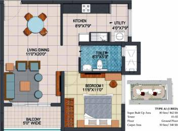 862 sqft, 1 bhk Apartment in Prestige Fontaine Bleau Whitefield Hope Farm Junction, Bangalore at Rs. 0
