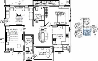 1265 sqft, 2 bhk Apartment in Kalpataru Residency Sanath Nagar, Hyderabad at Rs. 0