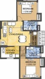 949 sqft, 2 bhk Apartment in Rungta Madgul Antaraa Joka, Kolkata at Rs. 0
