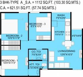 621.51 sqft, 3 bhk Apartment in Bakeri Samyaka Vejalpur Gam, Ahmedabad at Rs. 0