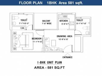 581 sqft, 1 bhk Apartment in Builder Project Motichur, Haridwar at Rs. 18.0110 Lacs