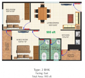 995 sqft, 2 bhk Apartment in Builder Project Bommasandra, Bangalore at Rs. 12500