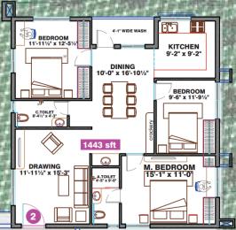 1443 sqft, 2 bhk Apartment in Hallmark Vicinia Narsingi, Hyderabad at Rs. 0
