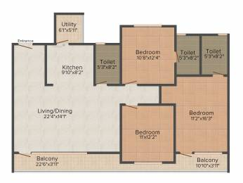 1773 sqft, 3 bhk Apartment in SJR Palazza City Sarjapur Road Wipro To Railway Crossing, Bangalore at Rs. 0