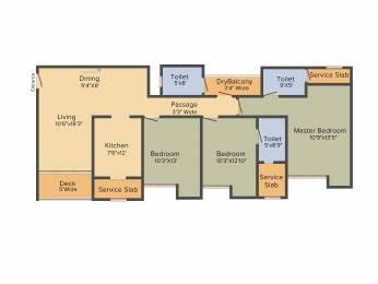 1735 sqft, 3 bhk Apartment in Rustomjee Urbania Azziano Thane West, Mumbai at Rs. 0
