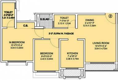831 sqft, 2 bhk Apartment in Rustomjee Urbania Atelier Thane West, Mumbai at Rs. 0