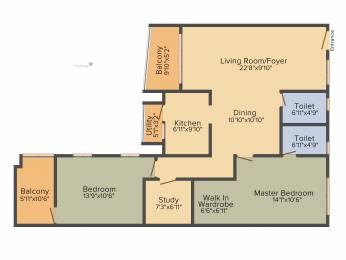 1454 sqft, 2 bhk Apartment in Kolte Patil Mirabilis Horamavu, Bangalore at Rs. 0
