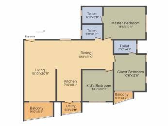 1600 sqft, 3 bhk Apartment in Kolte Patil Mirabilis Horamavu, Bangalore at Rs. 0