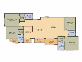 2299 sqft, 4 bhk Apartment in Kolte Patil Mirabilis Horamavu, Bangalore at Rs. 0