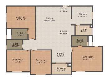 2035 sqft, 4 bhk Apartment in Mahindra Ashvita Kukatpally, Hyderabad at Rs. 0
