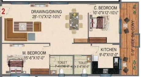 1405 sqft, 2 bhk Apartment in BRC Sri Hemadurga Sivahills Puppalaguda, Hyderabad at Rs. 0