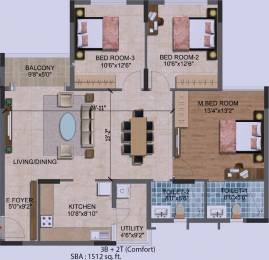 1512 sqft, 3 bhk Apartment in Purva Westend Begur, Bangalore at Rs. 0