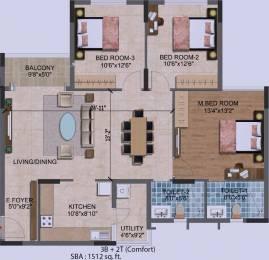 1512 sqft, 3 bhk Apartment in Purva Westend Begur, Bangalore at Rs. 0