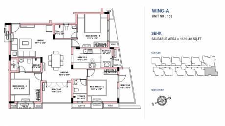 1559 sqft, 3 bhk Apartment in BBCL Nakshatra Perungudi, Chennai at Rs. 0