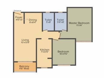 1060 sqft, 2 bhk Apartment in BSCPL Bollineni Silas KR Puram, Bangalore at Rs. 0