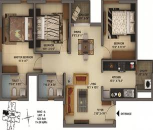 1230 sqft, 3 bhk Apartment in Mantri Energia Thanisandra, Bangalore at Rs. 0