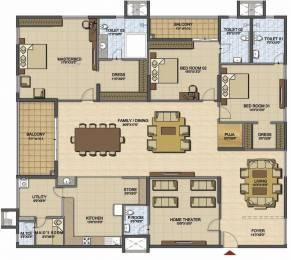 4069 sqft, 3 bhk Apartment in Prestige High Fields Gachibowli, Hyderabad at Rs. 0