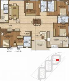 3147 sqft, 4 bhk Apartment in Prestige Ivy League Hitech City, Hyderabad at Rs. 0
