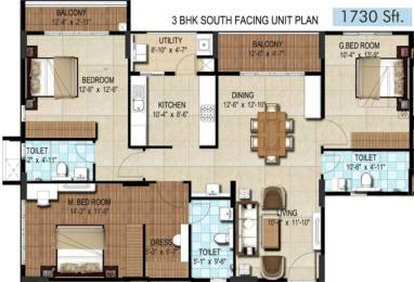 1730 sqft, 3 bhk Apartment in DSR Waterscape Horamavu, Bangalore at Rs. 0