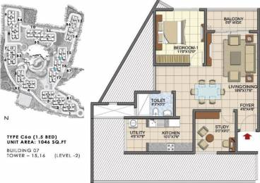 1046 sqft, 1 bhk Apartment in Prestige Song Of The South Begur, Bangalore at Rs. 0