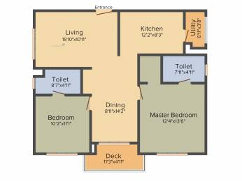 1360 sqft, 2 bhk Apartment in Incor One City Kukatpally, Hyderabad at Rs. 0