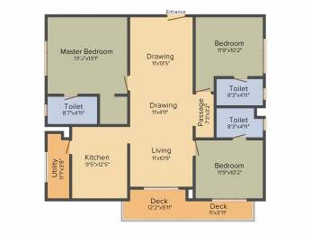 1842 sqft, 3 bhk Apartment in Incor One City Kukatpally, Hyderabad at Rs. 0