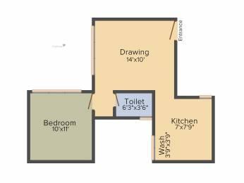 635 sqft, 1 bhk Apartment in Savvy Studioz Gota, Ahmedabad at Rs. 0