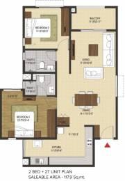 1270 sqft, 2 bhk Apartment in Brigade Xanadu Mogappair, Chennai at Rs. 0