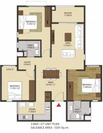 1390 sqft, 3 bhk Apartment in Brigade Xanadu Mogappair, Chennai at Rs. 0