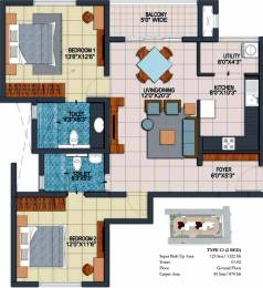1322 sqft, 2 bhk Apartment in Prestige Fontaine Bleau Whitefield Hope Farm Junction, Bangalore at Rs. 0