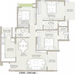 1540 sqft, 3 bhk Apartment in Goyal Orchid Whitefield Whitefield Hope Farm Junction, Bangalore at Rs. 0