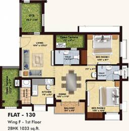 1033 sqft, 2 bhk Apartment in BBCL Midland Sholinganallur, Chennai at Rs. 0