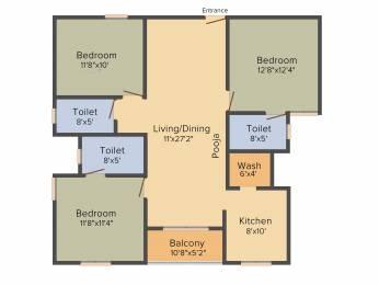 1417 sqft, 3 bhk Apartment in Radiance Empire Perambur, Chennai at Rs. 0