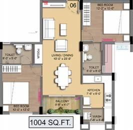 1004 sqft, 2 bhk Apartment in Radiance Empire Perambur, Chennai at Rs. 0