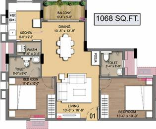 1068 sqft, 2 bhk Apartment in Radiance Empire Perambur, Chennai at Rs. 0