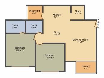1278 sqft, 2 bhk Apartment in Art Shree Vishnudhara Gardens Gota, Ahmedabad at Rs. 0