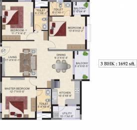 1692 sqft, 3 bhk Apartment in Mahindra Ashvita Kukatpally, Hyderabad at Rs. 0